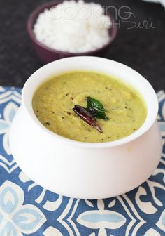 Indian Yellow Lentil Dal with Coconut. Get the #recipe here ==> http://www.cookingwithsiri.com/2012/07/recipe-kerala-style-arhar-toor-dal.html #vegan
