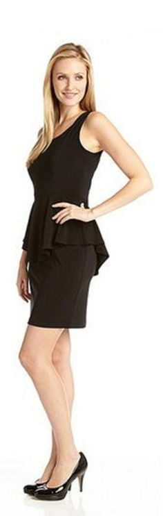 Perfect LBD for TRAVEL! Wrinkle Resistant Black  Peplum Dress  is constructed of wrinkle resistant fabric. #LBD #Wrinkle_Resistant #Fabric #Travel #Fashion
