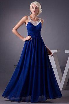 Robe de bal bleu roi