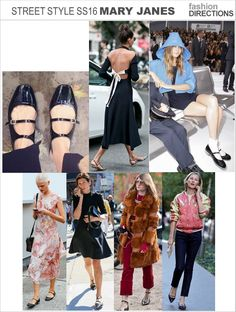 Mary Jane Strappy Flats Fashion Week Street Style SS16
