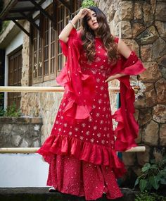 Beautiful Silk Hand Embroidered Kurti with modern silhouettes and superb embellishments. Stylish Dresses, Nice Dresses, Fashion Dresses, Girls Dresses, Designer Party Wear Dresses, Indian Designer Outfits, Pakistani Outfits, Indian Outfits, Choli Dress