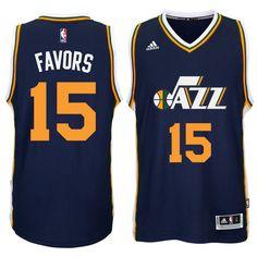 Derrick Favors Utah Jazz adidas Player Swingman Road Jersey - Navy - XL