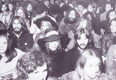 August 31 , 1966 John Lennon, George Harrison and Ringo Starr watch Bob Dylan…