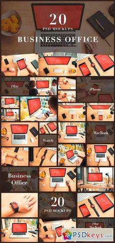 20 PSD Mockups Business Office 1108590