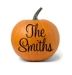 Personalized Family Name Halloween Vinyl Decal by CuttinCrazy