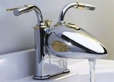 Harley Davidson faucet Roth for Tyson? Harley Davidson faucet Source by The post Roth for Tyson? Harley Davidson faucet appeared first on Susannah Kenny Interiors. Motorcycle Men, Chopper Motorcycle, Motorcycle Style, Motorcycle Touring, Motorcycle Images, Classic Motorcycle, Motorcycle Quotes, Biker Style, Modern Sink