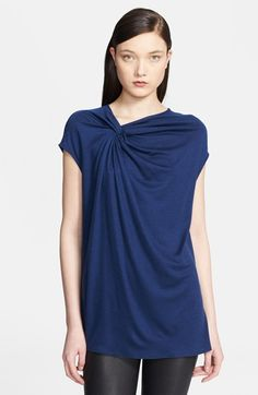 Helmut Lang 'Sync' Knotted Jersey Top available at #Nordstrom
