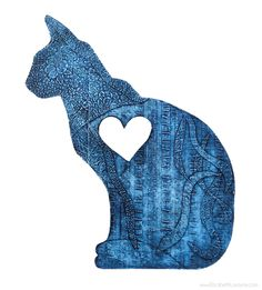 Cat Collagraph