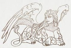 New tattoo designs drawings templates urban threads Ideas Greek Creatures, Mythical Creatures, Mythological Creatures, New Tattoo Designs, Tattoo Design Drawings, Stencil Designs, Designs To Draw, Embroidery Art, Embroidery Patterns