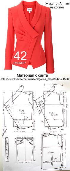 Blouse Patterns, Clothing Patterns, Sewing Patterns, Bustier, Jacket Pattern, Pattern Fashion, Sewing Tutorials, Designer Dresses, Blazer