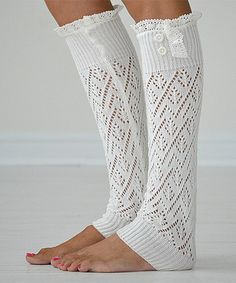 Off-White Lace-Trim Darcy Leg Warmers 9a805b9a8