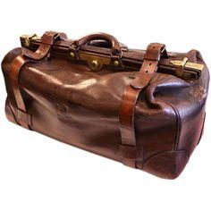 Antique English Leather Gladstone Bag | 1stdibs.com