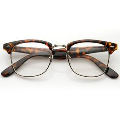 Amazon.com: FRAMEWORK - Vintage Inspired Classic Clubmaster Nerd Wayfarers UV400 Clear Lens Glasses: Shoes (115 CZK) found on Polyvore
