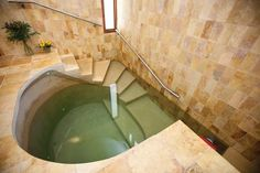 I found it extremely interesting how different cultures dealt with menstruation, and certain cultures required special practices. Orthodox Judaism required young girls to take a ritual bath called the mikvah. This is an image I found after searching mikvah.
