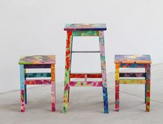 Dripping Stools by Cristina Lefter