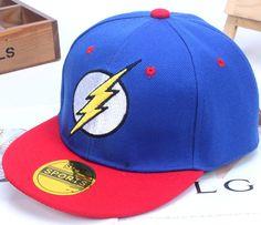 Wholesale children flash snapback baseball caps boys and girls hip hop hats cartoon cotton summer casual superman hat batman cap