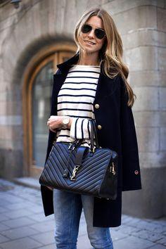 jeans, randig tröja och mina aviators - Linn Herbertsson - Metro Mode