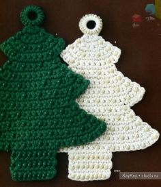 Herringbone - an ornament on the Christmas tree with their hands, crochet
