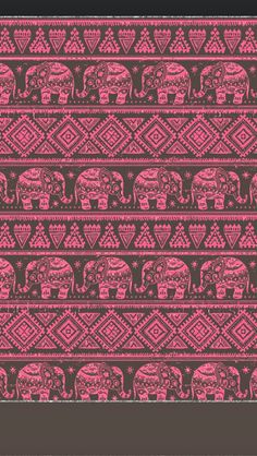 ☮ American Hippie Art Pattern Design Wallpaper IPhone .. Indian Elephants