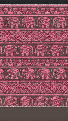 ☮ American Hippie Art Pattern Design Wallpaper IPhone .. Indian Elephants