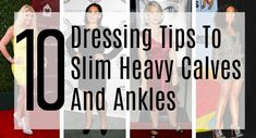 10 styling tips to magically slim heavy calves and thick ankles.   Fabulous After 40 Fat Calves, Slim Calves, Muscular Legs, Muscular Women, Dressing Your Body Type, Best Casual Shoes, Heaviest Woman, Big Legs, Ankle Shoes