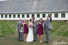 Jennifer and Kevin with family at the Barn.  Photo courtesy of @dbeckerphoto.  #barn #barnwedding