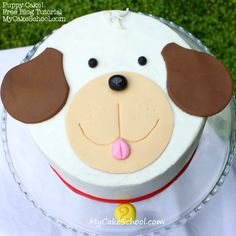Learn to make this SWEET puppy cake in MyCakeSchool.com's free blog tutorial.