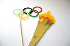 Photo booth Props. Olympic Photo Props. Olympic Games. Photo Props. Mustache on a Stick. Props on a Stick - The Olympian Maro Kit. $11.95, via Etsy.