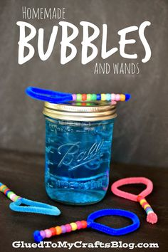 Homemade Bubble Mixture and Wands {Craft}