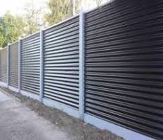 Image result for corrugated fence