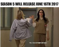 Woo Hoo!!!! Orange Is The New Black. (I think I need a year to recover from all the craziness of season 4.)