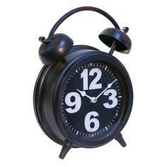Another great find on Black Table Clock White Table Top, Black Table, Mantle Clock, Desk Clock, Teen Boy Bedding, Vintage Alarm Clocks, Tabletop Clocks, Unique Clocks, Metal Clock