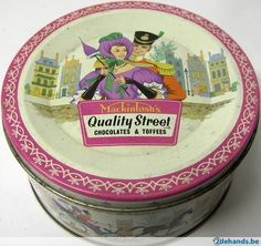 Retro tin of Quality Street 1970s Childhood, My Childhood Memories, Sweet Memories, Vintage Tins, Retro Vintage, Quality Streets Chocolates, Old Sweets, Good Old Times, Chocolate Toffee