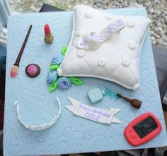 Princess, makeup pillow cake