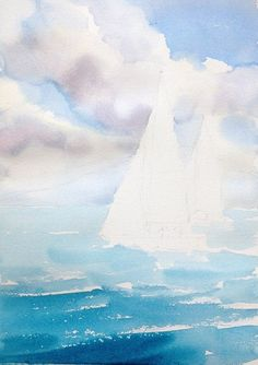 How to Paint the Ocean in Watercolor | The Art 123