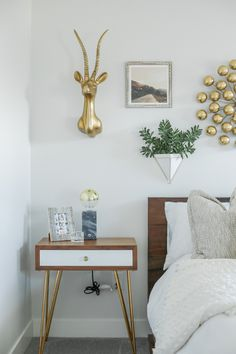 How to: Style Above your Nightstand | Four Chairs Blog