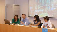 La presentación de los autores de la sesión  de Lectures al Jardí