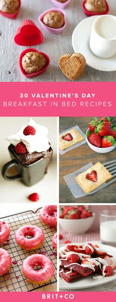 Valentine's morning is the perfect excuse to indulge in berry-infused pastries and heart-shaped treats so delicious, you'll wish every day was a special breakfast-in-bed affair. So…dish up a little love for your sweetie with these 30 romantic breakfast-in-bed recipes. After all, isn't the way to anyone's heart through their stomach!?