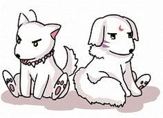inuyasha and sesshomaru as dogs!!! sooo adorable!!!