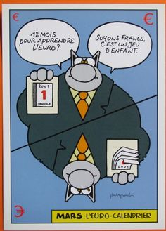 geluck - le chat - mars - depliant tract pub eurocalendrier 2002