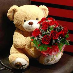 Brighten the moment of togetherness with this stunning rose bouquet and 12 inch plush bear. Send Flowers to Delhi today. Visit www.mayaflowers.com