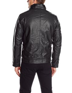 Levi's Men's Faux-Leather Trucker Jacket with Sherpa Lining at Amazon Men's Clothing store: