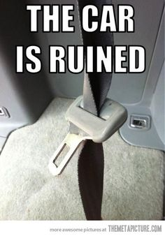 the car is ruined.