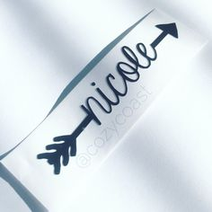 Arrow Name Decal Car Decal Laptop Decal Water by cozycoastshop
