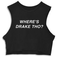 WHERE'S DRAKE THO? [CROP MUSCLE TANK] (13.280 HUF) ❤ liked on Polyvore featuring tops, crop tank top, cropped muscle tank, muscle tank, crop tank and crop top