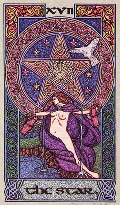 XVII. The Star - Celtic Tarot by Courtney Davis & Helena Paterson