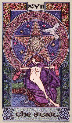XVII. The Star - Celtic Tarot by Courtney Davis & Helena Paterson
