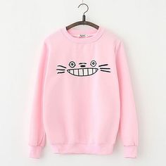 New 2017 Women Spring Autumn Hoodies Long Sleeve Cartoon Turtleneck Sweatshirts Loose Style Totoro Printed Pullover Tracksuits