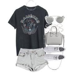 Atuendo para el verano con una camiseta de la banda