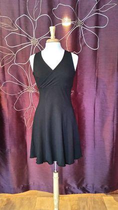 Shortie Tank Dress - Black Cotton/Lycra - Medium & Large - Ready to Wear